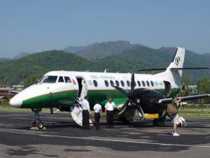 Vliegtuigje-van-Yeti-Air-in-Pokhara